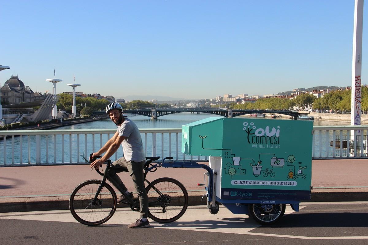 Collecter les déchets alimentaires à vélo